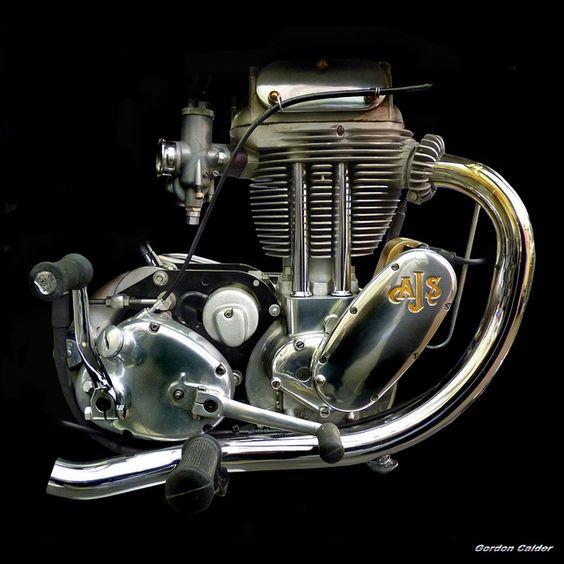 NO 114: CLASSIC 500cc AJS TRIALS BIKE ENGINE by Gordon Calder
