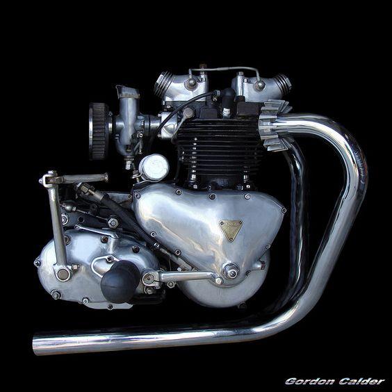 NO 18: CLASSIC TRIUMPH T110 650cc PRE-UNIT MOTORCYCLE ENGINE by Gordon Calder, via Flickr