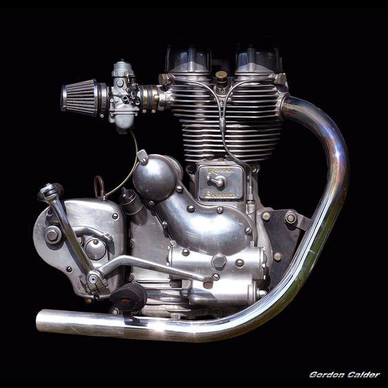 No 3: CLASSIC 500cc ROYAL ENFIELD MOTORCYCLE ENGINE by Gordon Calder, via Flickr