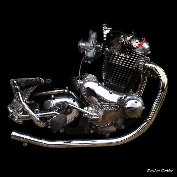 NO 35: CLASSIC NORTON COMMANDO 850 MOTORCYCLE ENGINE by Gordon Calder