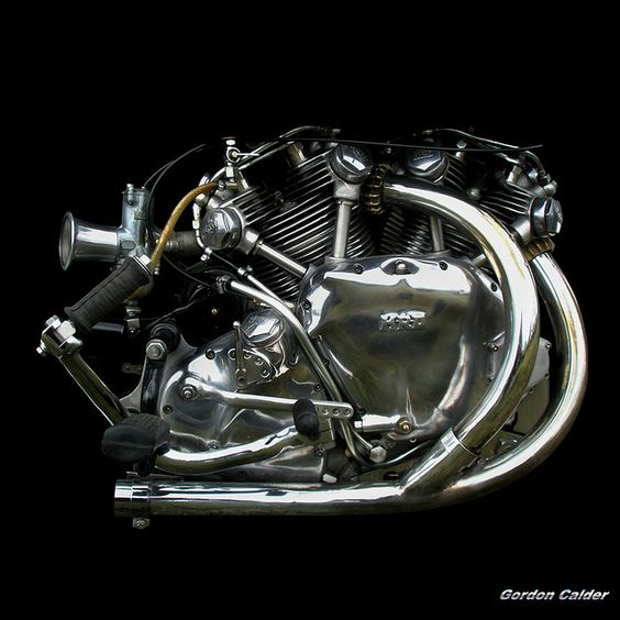 NO 36: CLASSIC VINCENT SERIES B HRD RAPIDE MOTORCYCLE ENGINE by Gordon Calder, via Flickr