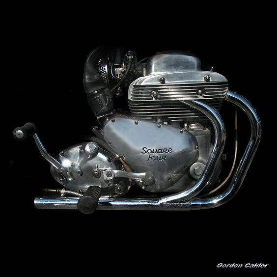 NO 55: CLASSIC ARIEL SQUARE FOUR MOTORCYCLE ENGINE by Gordon Calder, via Flickr