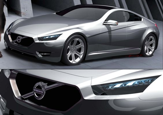 Nouphone J. Bansasine creates a slick 2015 Volvo S90 four-door sports car concept while interning at the Volvo Monitoring and Concept Center. #volvo #concept