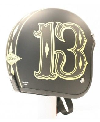 Number 13 Motorcycle Helmet