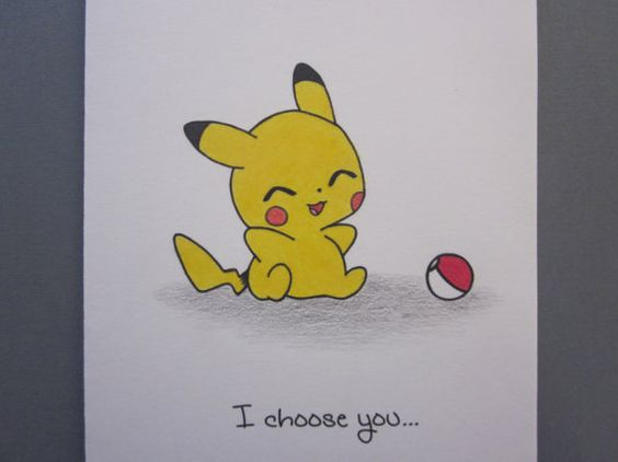 Oh. My. God. My heart would MELT! ♥ How adorable.  Pokemon Inspired Love/Friendship Card