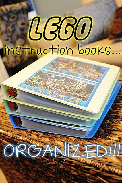 Ok why have I not thought of this? Lego books organised