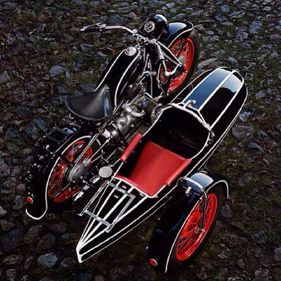 Old Motorcycle With Sidecar - Classic Beauty!