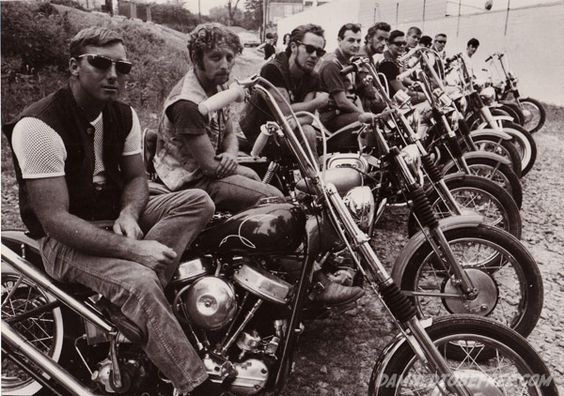 Outlaw MC Club Panhead Chopper Beatniks 1969
