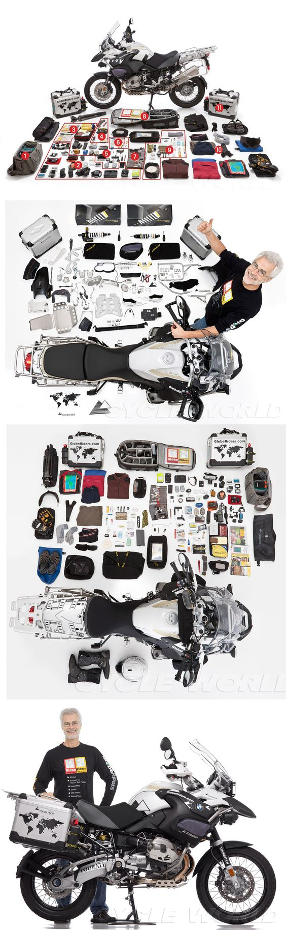 "PACKING YOUR ADVENTURE BIKE ""MULE"" How one man prepared his bike for a 15,000 mile adventure trip    ( BMW R1200GS )"