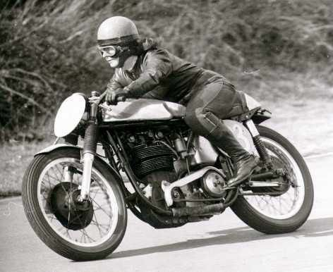 Pat Wise, the first British woman to compete in the Isle of Man TT.