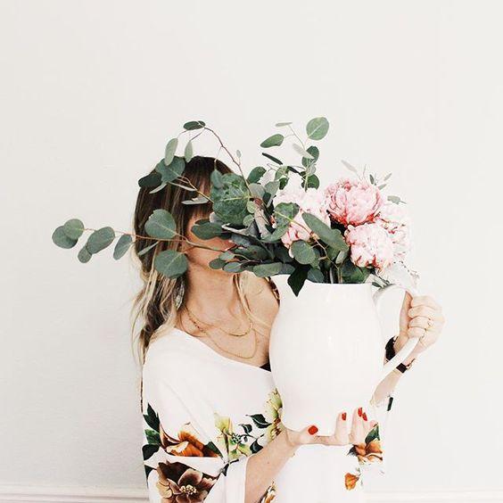peonies & eucalyptus//