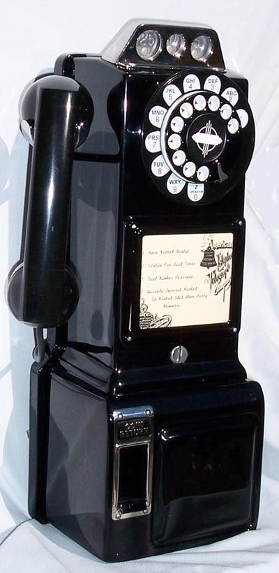 *phone booth phone from the 50's