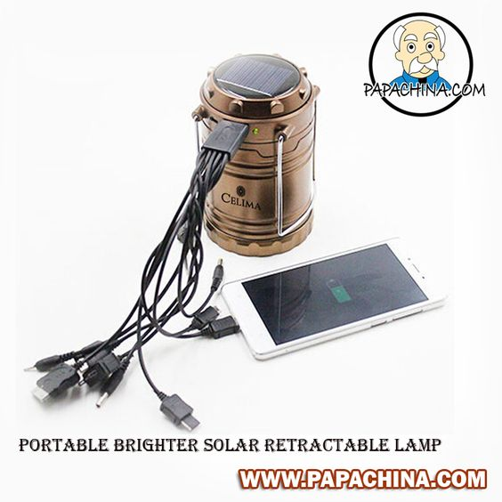 Portable Brighter Solar Retractable Lamp is a dynamic product that is offered at PapaChina can make you very popular among your customers with wide range of facilities and features that includes batteries  *3, USB charging for phones, In rainy days charging by AC, hanging or portable, LED SMD, which can be used by your customers as emergency use.