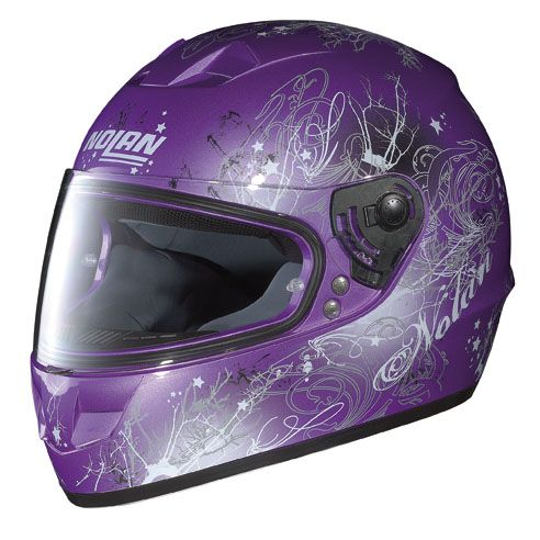 Purple motorcycle helmet