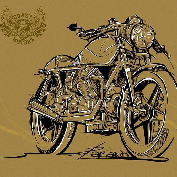 r_a_b_a_n_o's photo #illustration #motorcycles  