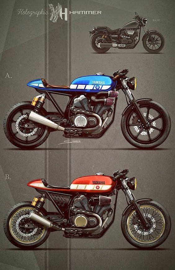 Racing Cafè: Cafè Racer Concepts - Yamaha Bolt by Holographic Hammer
