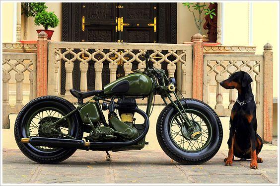 """Rajputana Custom's 1942 BSA M20 - """"Laado"""" - via Pipeburn"""