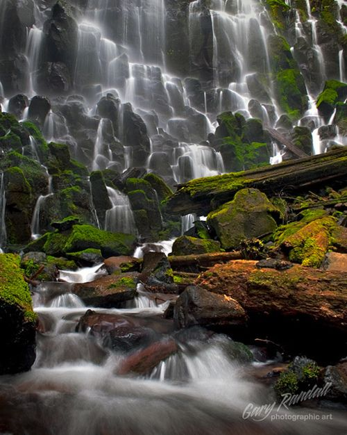 Ramona Falls in the Mt. Hood National Forest, Oregon - photo by Gary Randal