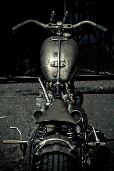 Raw metal bike build