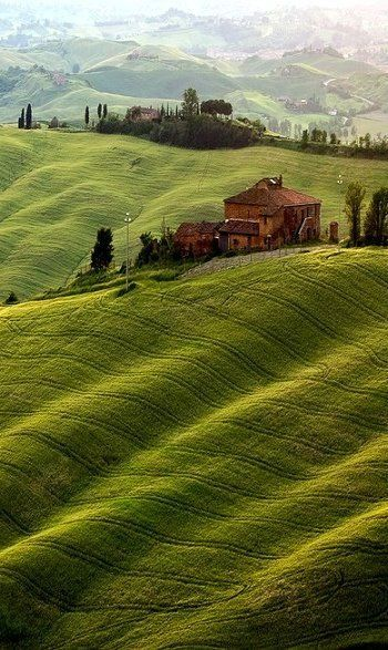Red Velvet Voyage through historic welcoming Tuscany, Italy. Romantic Tuscany can steal the heart of any traveler! ~Tuscany, Italy! Rolling green hills and Italian cypress