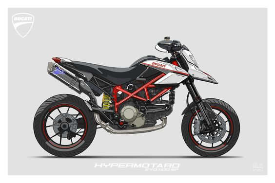 Reddit commissioned illustration #4 - Imgur Ducati Hypermotard