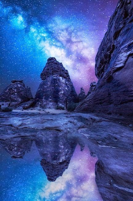 Reflected milky way, Saudi Arabia