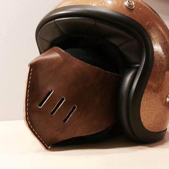 Riding leather mask mask