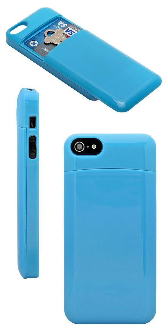 Secret Stash iPhone case // slim case with a secret compartment for card, keys etc. Clever!