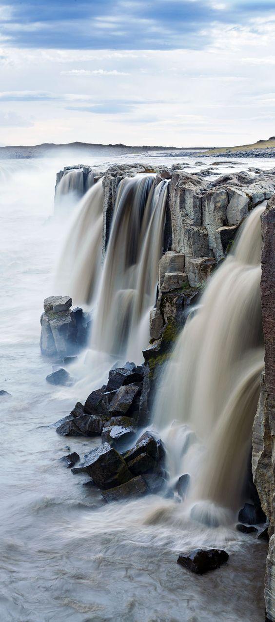Selfoss Waterfall in Jokulsargljufur National Park Iceland.