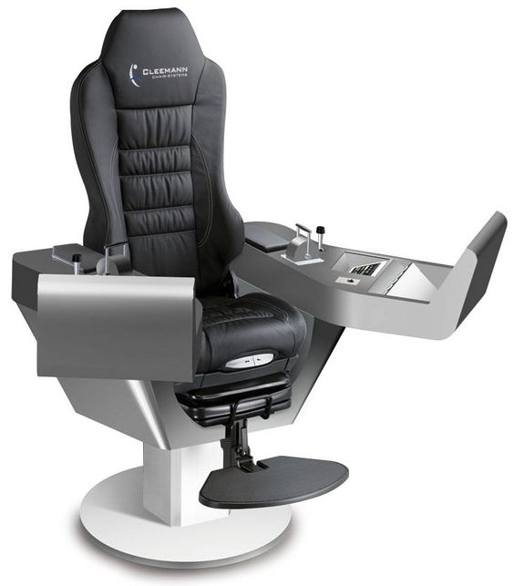 Ship seat / helm / with built-in pilot console - COMMANDER XXL - Cleemann Chair-Systems