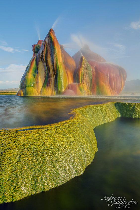 Shy Geyser, Fly Geyser, Nevada, United States