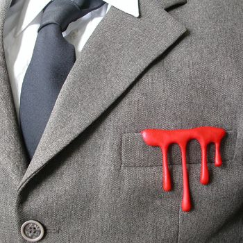 Sissi Westerberg  D is for Drip 'Something Inside' Brooch in acrylic.  x  x
