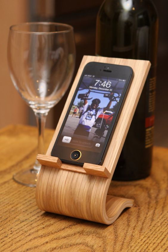 Smartphone Desk Stand by Terryswoodworking, $