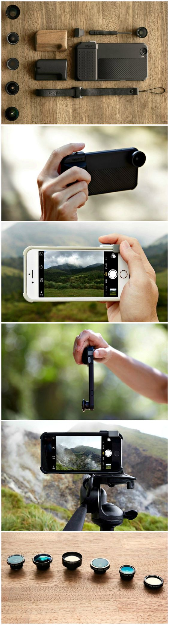 SNAP! Pro is an iPhone 6 and 6S case that turns your iPhone into a professional level camera with a real shutter button, interchangeable lenses and ergonomic grip.