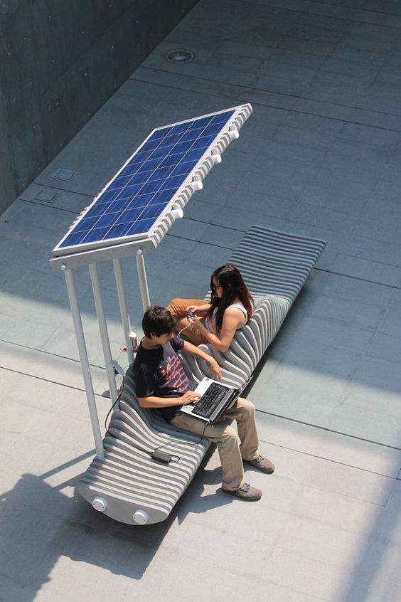 Solar Power Bench!!