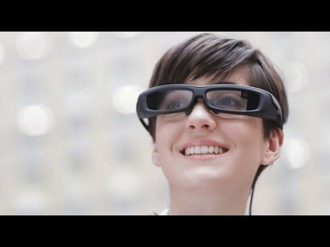 Sony's SmartEyeglass: augmented reality smart glasses for business solutions - YouTube