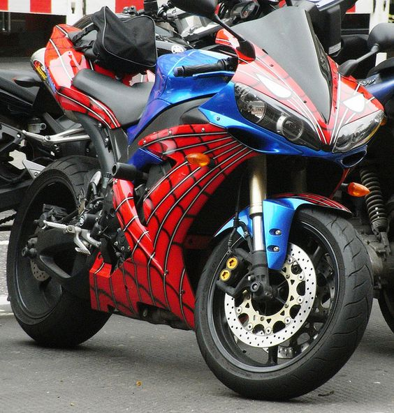Spiderman Motorcycle by Brian Parkin, via Flickr
