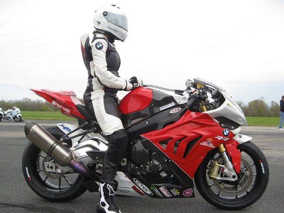 sport biker girl