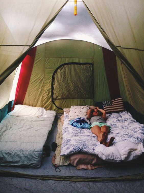 Summer camping.