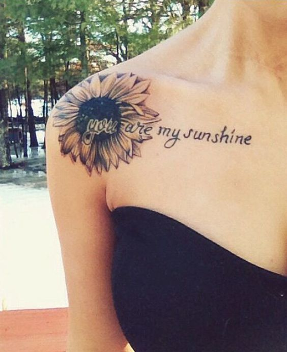 sunflower tattoo - 45 Inspirational Sunflower Tattoos  ♥ ♥