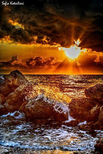 Sunrise at sea'