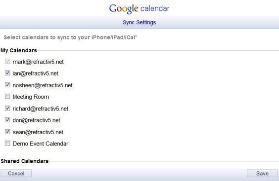 Sync shared Google Calendars to your iOS device - Google Apps Tips