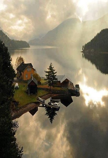Telemark, Norway - I could wake up to that every morning.
