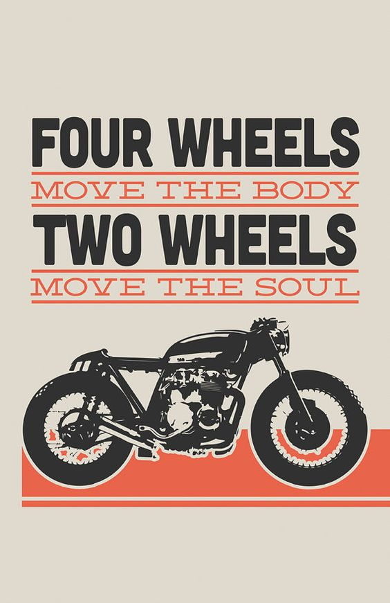 Terrific posters from Inked iron, including this Honda CB550 cafe racer—