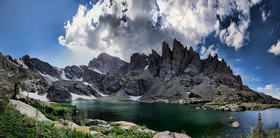 Th 7 Most Amazing Hidden Outdoor Gems in Colorado. Sky Pond, Rocky Mountain National Park, Colorado.