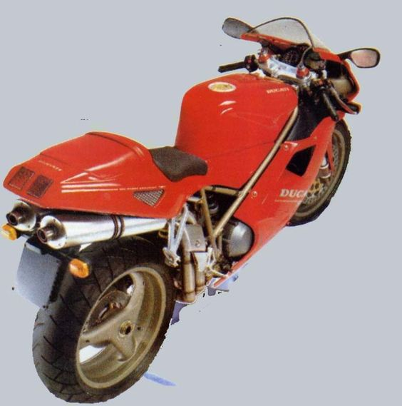The Ducati 916 has, at its heart, a liquid-cooled, four-stroke, 916cc, 90-degree V-Twin desmodromic engine that was paired to a