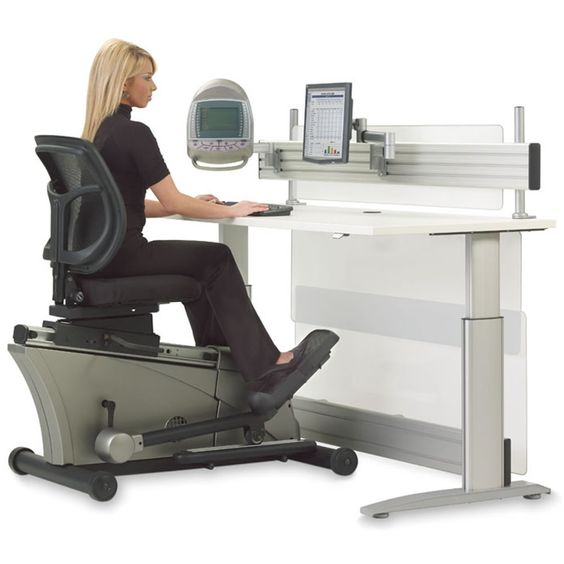 The Elliptical Machine Office Desk - Hammacher  need these for work!
