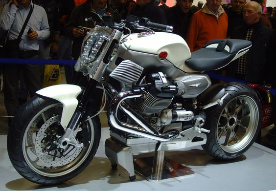 The experimental V12 X, which was shown at the EICMA motorcycle exhibition in Milan in 2009. It hasn't materialized yet, but if it did I'm sure Guzzi would've reached plenty of new buyers.