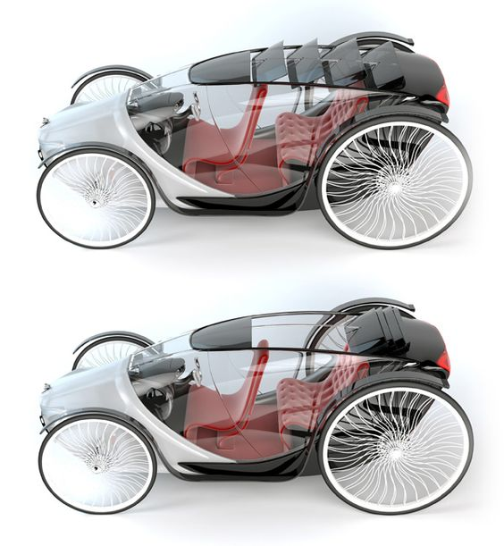 The Fayton, inspired by the natural (horse) and human (carriage) components of the phaeton horse-drawn buggy of the 19th century, is a project aimed at providing comfortable transportation with a minimal carbon footprint. The EV's most noticeable features are its transparent body and large glass canopy that provides a 360 degree view outside. The sunroof is made of four glass pieces that, when open, fold back and resemble a horses mane.