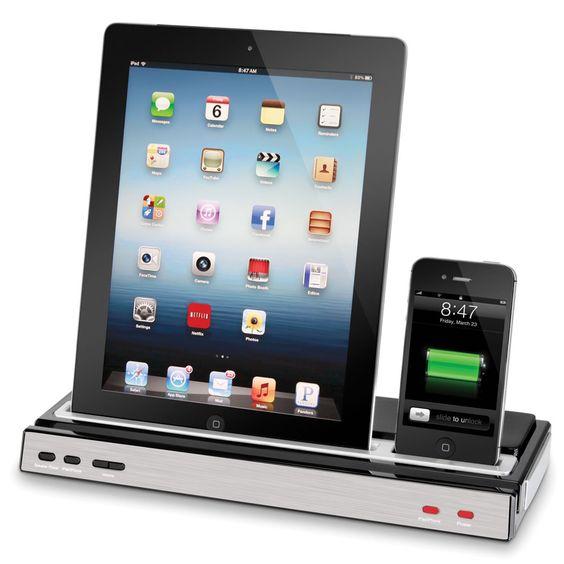 The iPhone And iPad Charging Speaker Dock - Hammacher Schlemmer